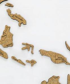 2D mapa světa - z korku