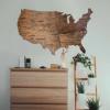 2D Mapa USA ze dřeva
