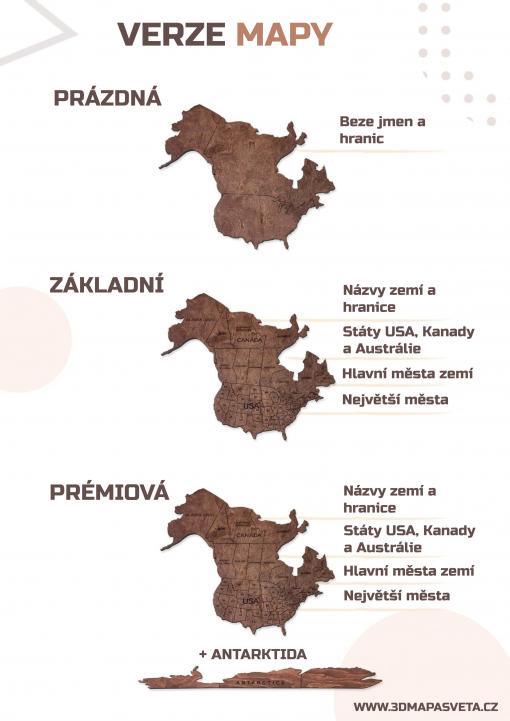 2D verze mapy světa - typy map