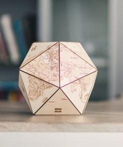 3D dřevěný globus světa