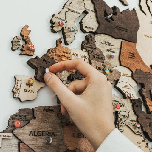 3D Mapa světa - detail