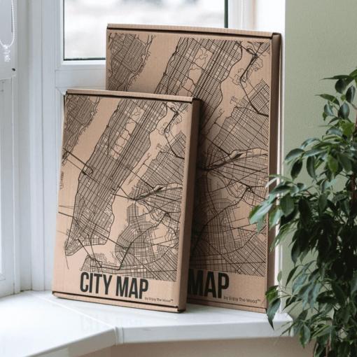 3D Mapa města - Amsterdam, ze dřeva