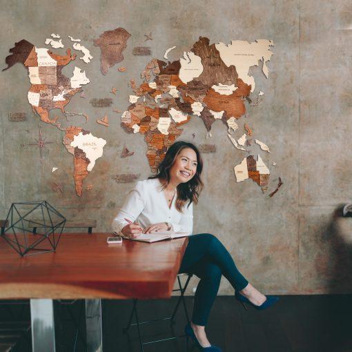 3D Mapa Světa - u stolu