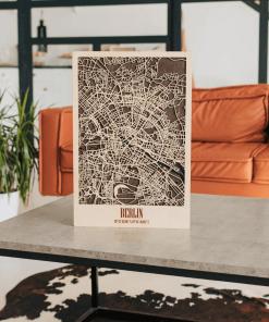 3D Mapa města ze dřeva - Berlín