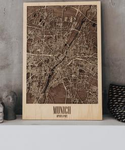 Mnichov - 3D mapa města ze dřeva