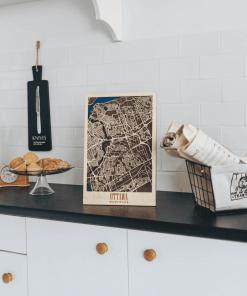 Ottawa - 3D mapa města ze dřeva, gravírovaná