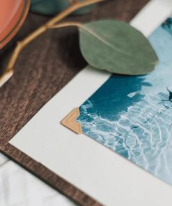 Cestovatelský deník a fotoalbum ze dřeva - motiv autobus