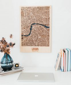 Dřevěná 3D Mapa města - Londýn