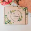 svatební deník a fotoalbum ze dřeva - dekorace s listy