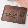 Svatební deník a fotoalbum ze dřeva - gravírovaná růže