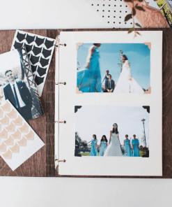svatební deník ze dřeva - motiv kapradí