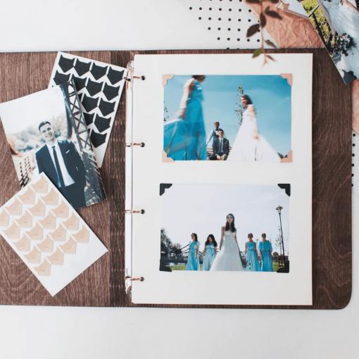 Svatební deník ze dřeva s motevem nevěsta