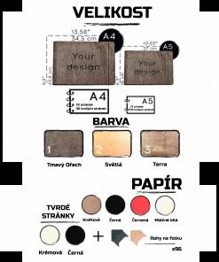 Verze a typy dřevěných deníků