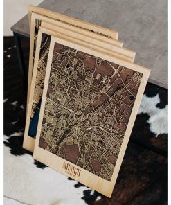 Výroba 3D mapy města na míru - ze dřeva